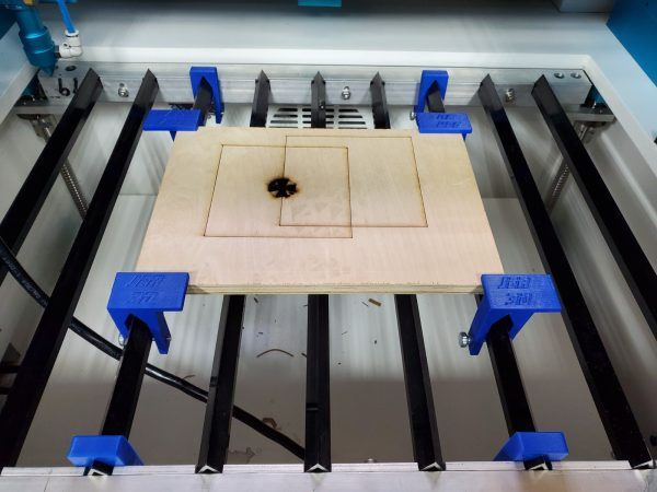 Thunder Laser Material & Blade Clamp System